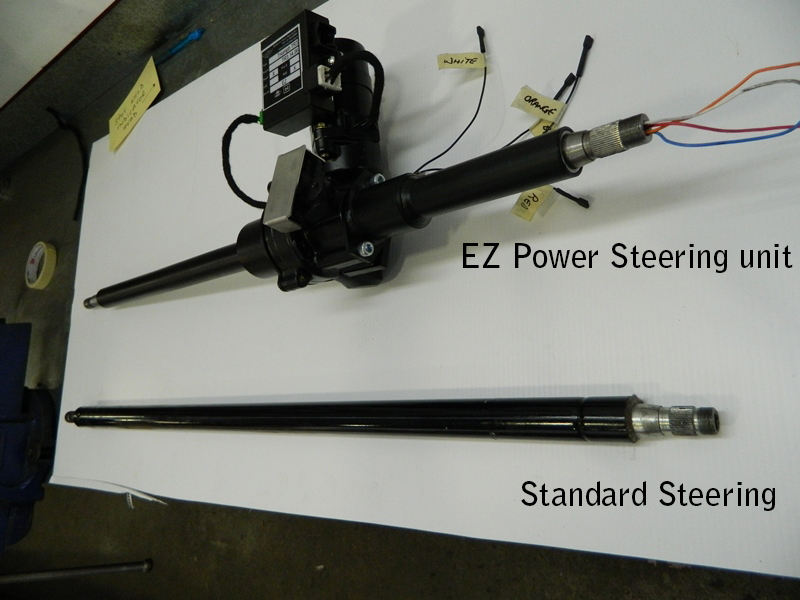 01a-TR3a original column compared to EZ Electric Power Steering column