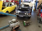 Triumph Stag V8 engine removed